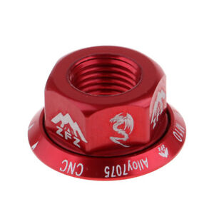 Track Hub Nut Bicycle Wheel BMX Road Flange Track   Vintage Rear M10 Red