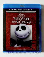 Disney Tim Burton The Nightmare Before Christmas 20th Anniversary Blu-ray DVD