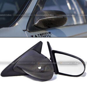For Honda 88-91 CRX Pair Carbon Fiber Powered Adjustable Spoon Style Side Mirror