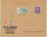 """DT.REICH """"MAGDEBURG / SUDENBURG 1"""" selt. K2 a. portogerechte Kab.-R-Brief 1930"""