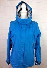 REI Event Waterproof Womens Medium Blue Hooded Lightweight Jacket