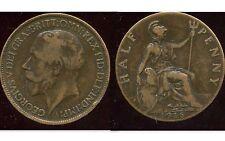 ROYAUME UNI - GREAT BRITAIN  half penny 1916   ( etat )