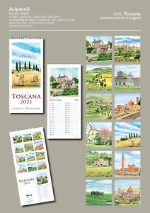 "Calendario 2021 - Toscana - 16x35 - Calendar 2021 - Tuscany - 6,29""x13,77"""