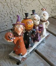 Dancing Witch/Pumpkin/Skeleton/Mummy STATUE*Primitive Steampunk Halloween Decor