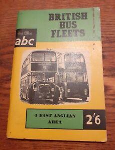 1959 Ian Allan Ltd ABC Booklet - British Bus Fleets # 4 East Anglian Area