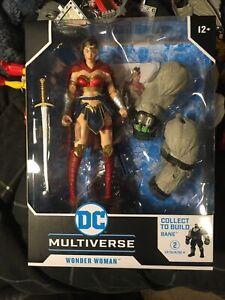 IN HAND WONDER WOMAN McFarlane DC Last Knight on Earth Bane Build A Figure