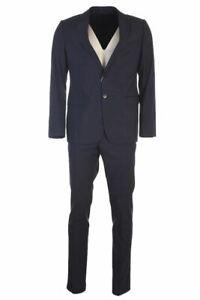 ARMANI COLLEZIONI Suit Blue Wool Jacket & Trousers Size 54 RRP £649 TR 764