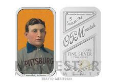 Honus Wagner T-206 Tobacco Card Silver Bar - Officially Licensed Limited To 1909