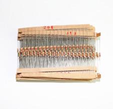 1500pcs 1/4W 75 Values 5% Carbon Film Resistors Assorted kit (1 ohm~ 10M ohm)