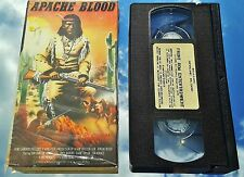 APACHE BLOOD (VHS) RARE INDIAN WESTERN w/ Ray Danton (The Longest Day, Runaway)