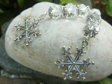 Women's Christmas Snowflake Crystal Dangle Earrings Handmade Costume Jewellery