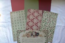 CHRISTMAS A DECEMBER 25th Contrast CARD KIT & 3 Cardstock 12x6& Ribbons Mixture