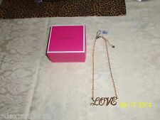 AUTHENTIC Juicy Couture LOVE STATEMENT GOLD TONE Necklace NWT $68 YRU7750