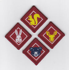SCOUTS OF JAPAN (NIPPON) - SAJ CUB SCOUT (CS) Rank Award Patch (WHOLE SET OF 4)