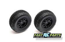 Associated Associated SC10B Buggy Kmc Hex Wheels/Tires Black (2) ASC91104