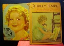 2 Shirley Temple Books Little Star & Pastime Book