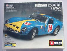 Ferrari 250 GTO 1962 #24 blau gelb Bburago 5510 Metal Kit Bausatz 1/24 NEU
