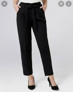 Forever New Nikki Tie Waist Tapered Pant Size 10