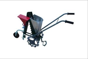 Seeder with fertilizer hopper Manual mechanical for garlic onion tulip oak