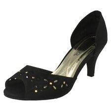Peep Toes Standard (D) Width Floral Heels for Women