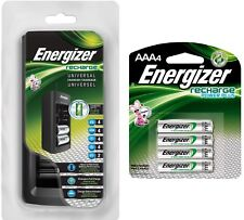 Energizer Chfc Universal Battery Charger w/ Aaa 4pk