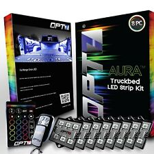 OPT7 8pc LED Truck Bed Lighting Kit 16 Color White - without Tailgate Pin Switch
