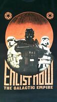 Star Wars Mens Black Graphic Print Enlist Now The Galactic Empire T Shirt Size L