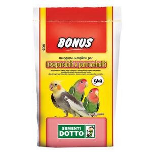 Bonus SD8 5kg Mangime per inseparabili e parrocchetti (Sementi Dotto)