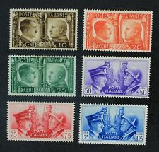 CKStamps: Italian Stamps Collection Scott#413-418 Mint H OG