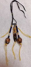 Native American Rear-view Mirror Ornament Pecan Shell Shakers Rattles Seminole 2