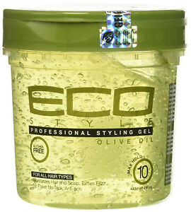 ECO Style Professional Styling Gel Olive Oil Max Hold Alcohol Free 473ml