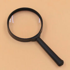 1PCS 5X 60mm Hand Held Reading Magnifying Glass Lens Jewelry Loupe Zoomer Black