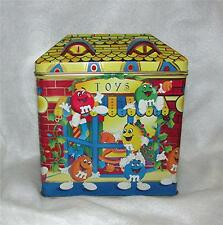 "1996 M&M's CANDY LTD. ED. CHRISTMAS VILLAGE SERIES #3 ""TOY SHOP"" TIN CANISTER"