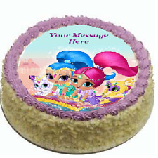 Shimmer and Shine Cake topper edible image icing Birthday Party REAL FONDANT