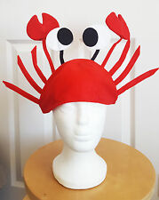 Funny Lobster Crab Hat Festival Wear Adults Seafood Felt Prank joke Fisherman UK