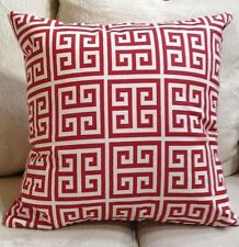 """Premier Prints Towers Rojo/Red/Cream  Pillow/Covers $25.00 ea.- 2 Avail. 20""""x20"""