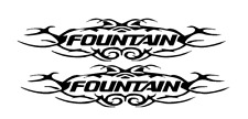 "PAIR OF 6""X28"" FOUNTAIN BOAT HULL DECALS. MARINE GRADE.YOUR COLOR CHOICE 121"