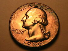 1956-P WASHINGTON 25C Quarter Superb Colorful Toned Gem BU 25 Cents Silver Coin
