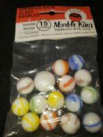 Vintage Bag Marble King Marbles New Unopened Bag 15 plus shooter NOS