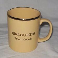 Vintage Girl Scouts Totem Council Staffordshire Kiln Craft England Mug EUC