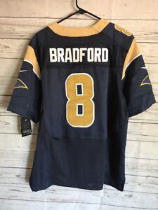 NWT NFL Rams Football Jersey Sam Bradford #8 Nike On Field Mens 44 New Tags