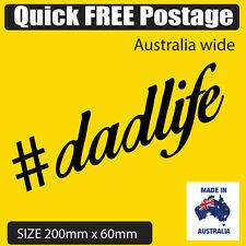 #dadlife Sticker for car, bumper sticker, laptop, fridge , toolbox