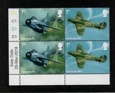 2018 GB.- RAF CENTENARY - PLATE BLOCK WITH INSCRIPTIONS - UNMOUNTED MINT.