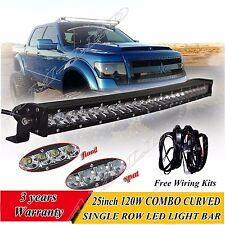25inch 120W CREE LED Flood Spot Combo Beam Work Light Bar For Truck SUV ATV Jeep
