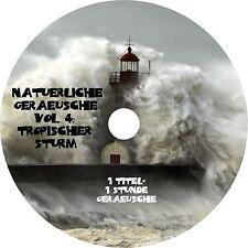 NATÜRLICHE GERÄUSCHE Vol. 4 -  TROPISCHER STURM Entspannung Musik CD Wellness