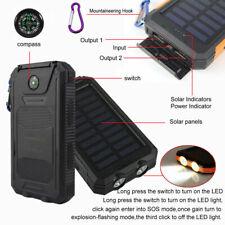 Impermeable Solar Batería Externa USB 100000mAh Cargador Portátil para Móviles