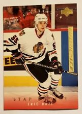 1995 96 UPPER DECK ELECTRIC ICE GOLD STAR ROOKIE #268 ERIC DAZE ROOKIE RC HAWKS