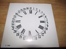 """Paper Clock Dial  - Calendar with Roman Numerals - 6 1/2"""" x 6 5/8"""" - Glossy"""