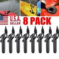 8PACK Plastic Flush Mount Fishing Boat Rod Holder and Cap Cover for Kayak Pole