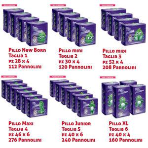 Pannolini Pillo Premium New born,Pants, Midi e Xl Taglia 1 a 6 Offerta Cartone